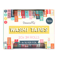 Washi Tape Box of 20 rolls