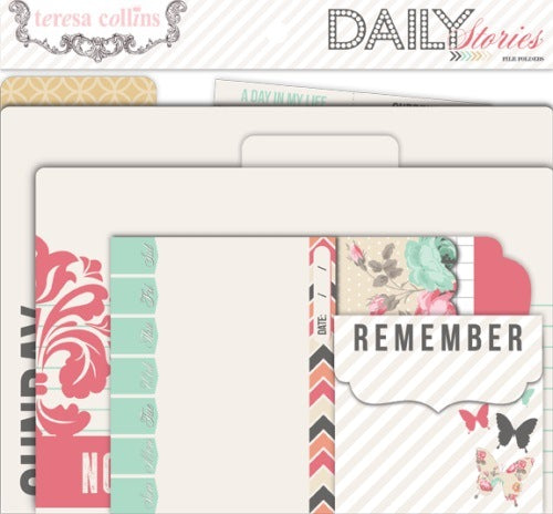Therea Collins file folders and Tags for scrapbooking and cards. Daily Stories