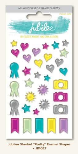 My Minds Eye - Enamel Shapes Stickers - Memories and Photos