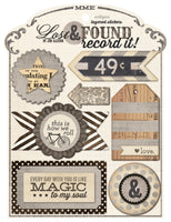 MME Layered stickers - Antique - Memories and Photos