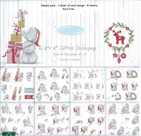 Me to you Glitter Christmas Decoupage pad 8x8 - Memories and Photos