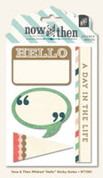 MME 'Hello' sticky notes for journals and scrapbooking - Memories and Photos
