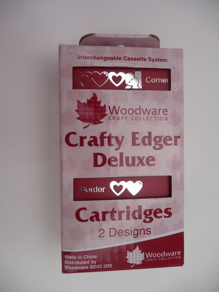 Crafty Edger Deluxe Punch. Corner and border twin Pack. Heart Link (cp42)