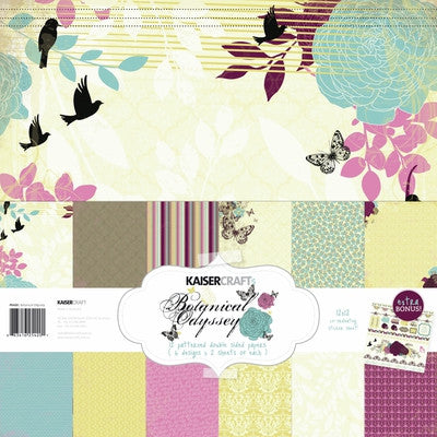 Kaisercraft Botanical 12x12 Paper pack and sticker sheet