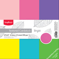 Scrapberrys Cardstock Pack. 12x12 Bright - Memories and Photos