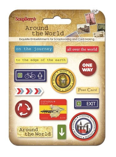 Scrapberrys - Epoxy stickers - Around the world