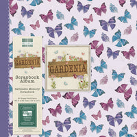 "Scrapbook Album 12""x12"". Snapload style. Gardenia (butterflies) - Memories and Photos"