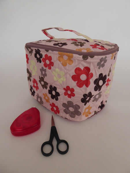 Craft bag - Oval - Pink / Daisy