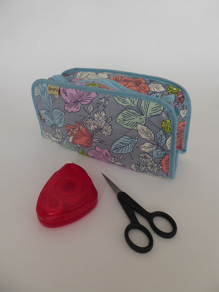 Craft bag - Oblong - Blue Peonies