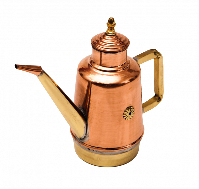 Gi.Metal Traditional Copper & Brass Neapolitan Oil Can OL05 - The Pizza Oven Store
