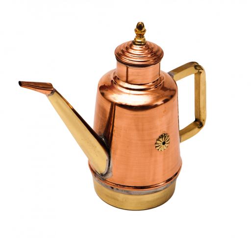 Gi.Metal Traditional Copper & Brass Neapolitan Oil Can OL15 | The Pizza Oven Store