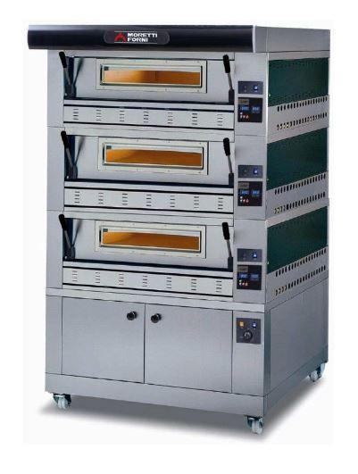 Moretti Forni COMP P110G B-3-S Commercial Pizza Oven - The Pizza Oven Store Australia