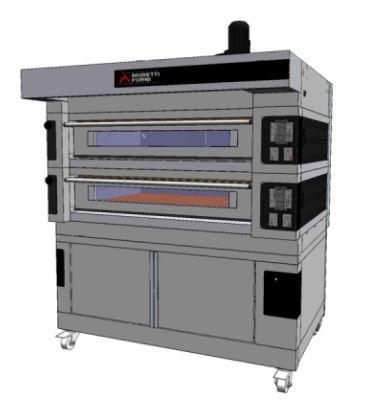 Moretti Forni COMP S125E-2-S Commercial Pizza Oven | The Pizza Oven Store