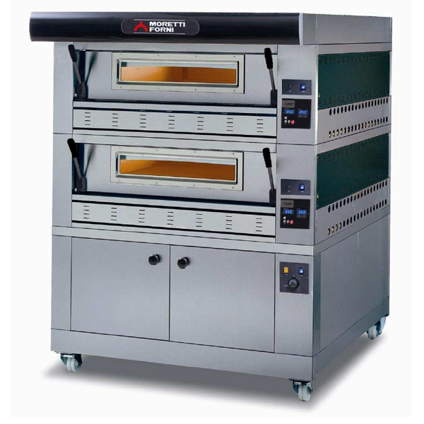 Moretti Forni Double Deck Gas Deck Oven With Prover COMP P110G A 2 - The Pizza Oven Store