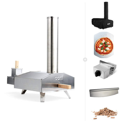 Ooni 3 | Portable Outdoor Wood Fired Pizza Oven - 10kg Wood & Gas Burner Bundle | Discontinued | The Pizza Oven Store