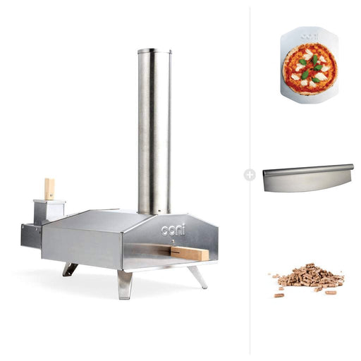 Ooni 3 | Portable Outdoor Wood Fired Pizza Oven - Wood Starter Bundle | Discontinued - The Pizza Oven Store