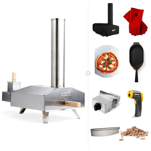 Ooni 3 | Portable Outdoor Wood Fired Pizza Oven - Ultimate Bundle | Free Shipping the pizza oven store