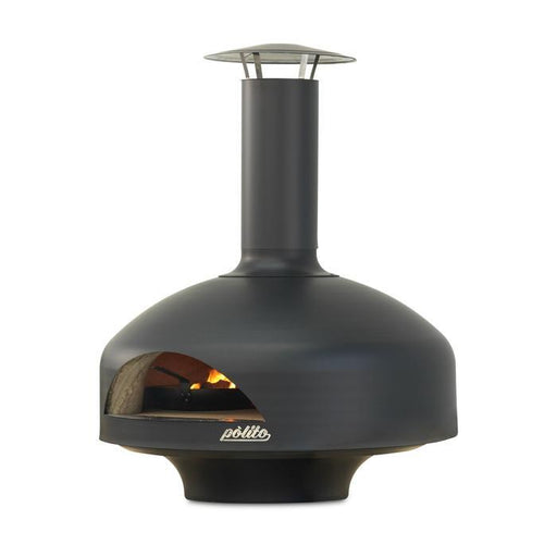 Polito Black Giotto Wood Fire Pizza Oven | The Pizza Oven Store