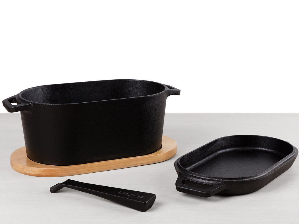 Casserole Dish and Sizzler Pan - Unni Cast Iron Series the pizza oven store
