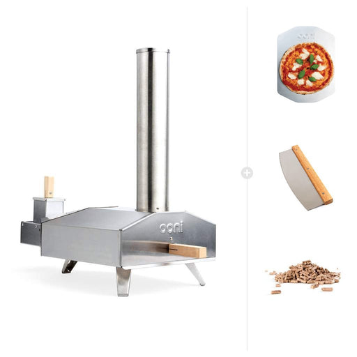 Ooni 3 | Portable Outdoor Wood Fired Pizza Oven - Wood Starter Bundle with Free Shipping | The Pizza Oven Store