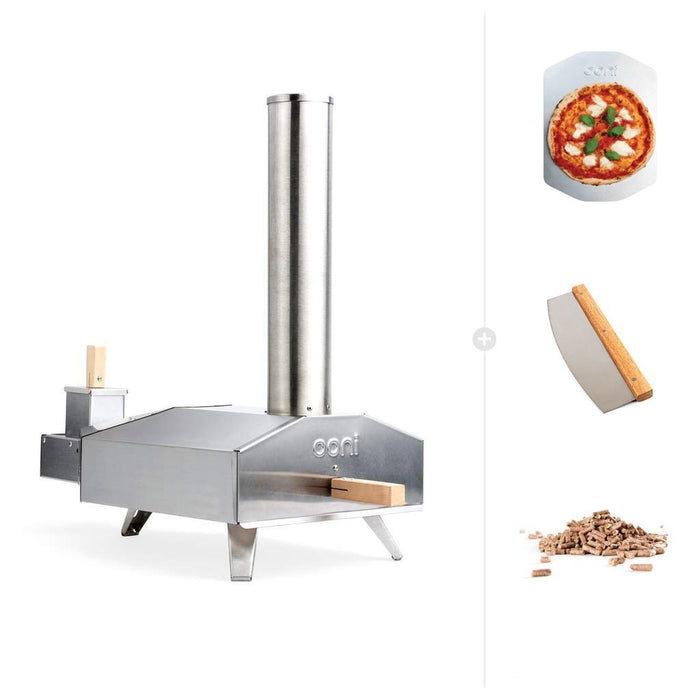 Ooni 3 | Portable Outdoor Wood Fired Pizza Oven - Wood Starter Bundle | Discontinued | The Pizza Oven Store