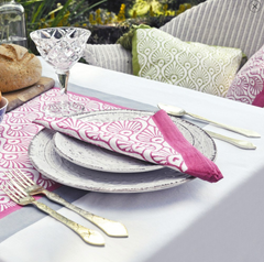 East London Parasol Company pink peacock napkins