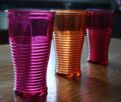 Recycled glass drinking tumblers from Natural Simplicity