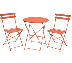 Orange bistrot table