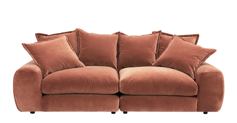 Loaf sofa in coral