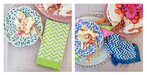Summer and vibrant napkins