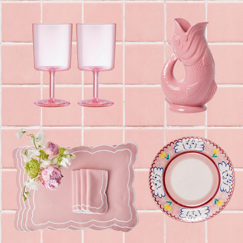 Pink tableware that will be perfect for any outdoor space