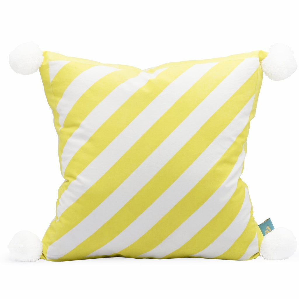 Green Pom Pom Cushion- in stock