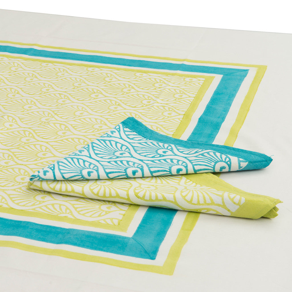 Lime and Turquoise napkin