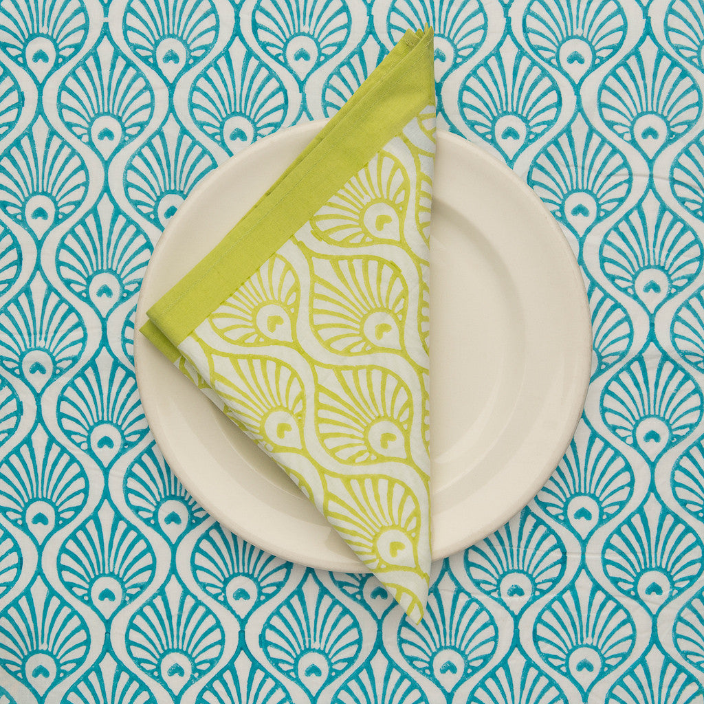 Lime green napkin
