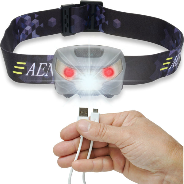 LED Headlamp - USB Rechargeable