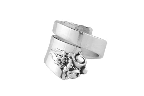 Castle Rose Spoon Ring