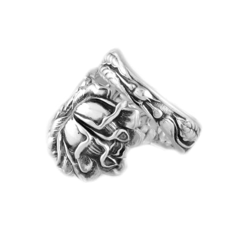 Bridal Rose Spoon Ring