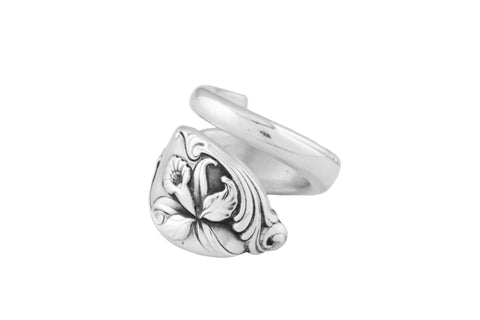 Enchanting Orchid Spoon Ring