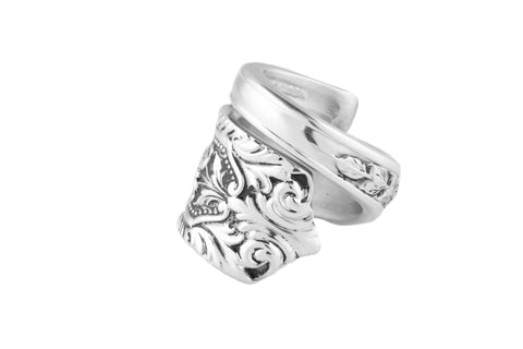 Milburn Rose Sterling Spoon Ring