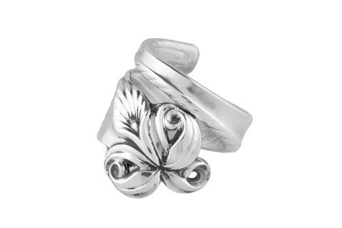 Orchid Elegance Sterling Spoon Ring