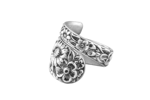 Repousse Sterling Spoon Ring