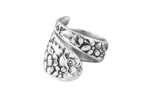 Southern Rose Spoon Ring