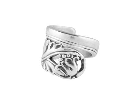 Spring Glory Sterling Spoon Ring