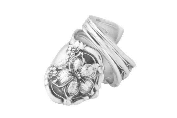 Orange Blossom spoon ring