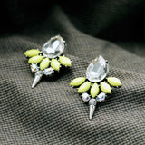 SHARPIE YELLOW RIVET STUD EARRINGS - SWANL