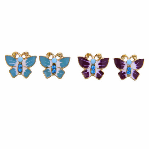 Zenamel Butterfly Stud Earrings