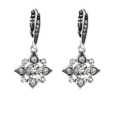SILVERBURN CRYSTAL STATEMENT EARRINGS - SWANL