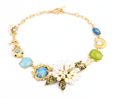 GARLAND COLLAR STATEMENT NECKLACE - SWANL