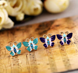 ENAMEL BUTTERFLY STUD EARRINGS | SWANL