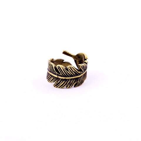 SPHERICAL LEAF GREEK RING - SWANL